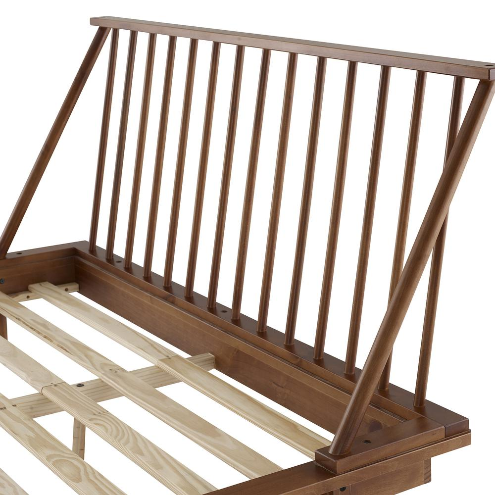 Modern Wood Queen Spindle Bed - Caramel. Picture 4