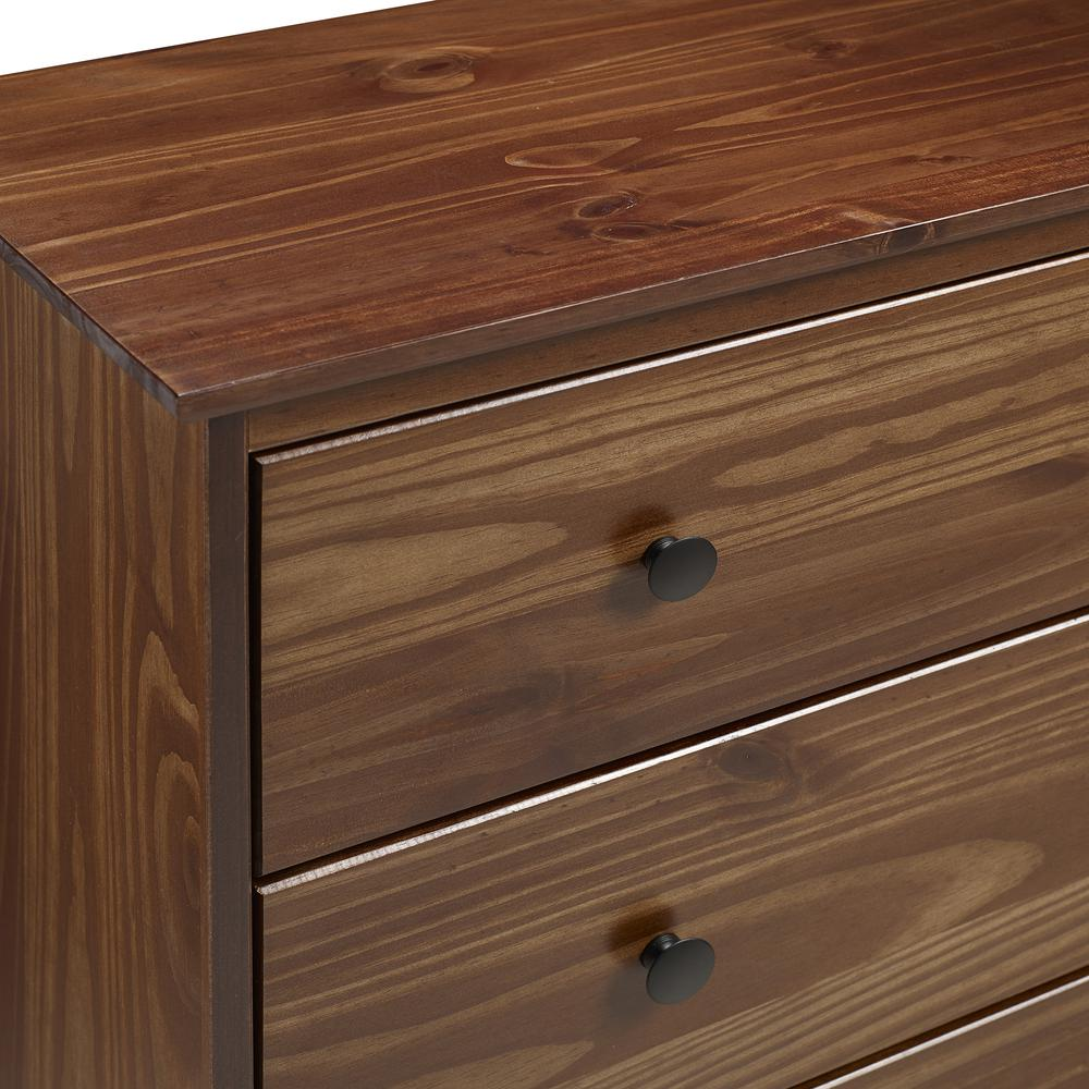 Classic 4-Drawer Solid Wood Dresser - Walnut. Picture 4