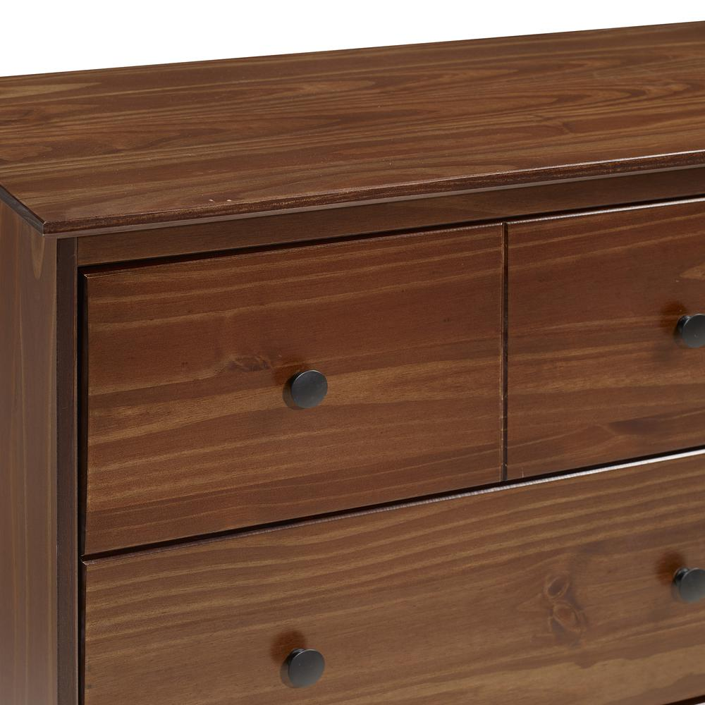 Classic 6-Drawer Solid Wood Dresser - Walnut. Picture 4
