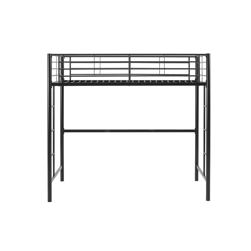 Twin Metal Loft Bed - Black. Picture 3