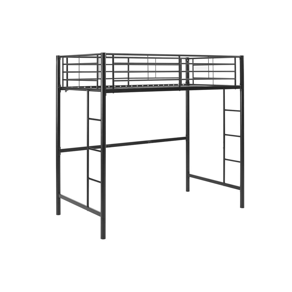 Twin Metal Loft Bed - Black. Picture 4