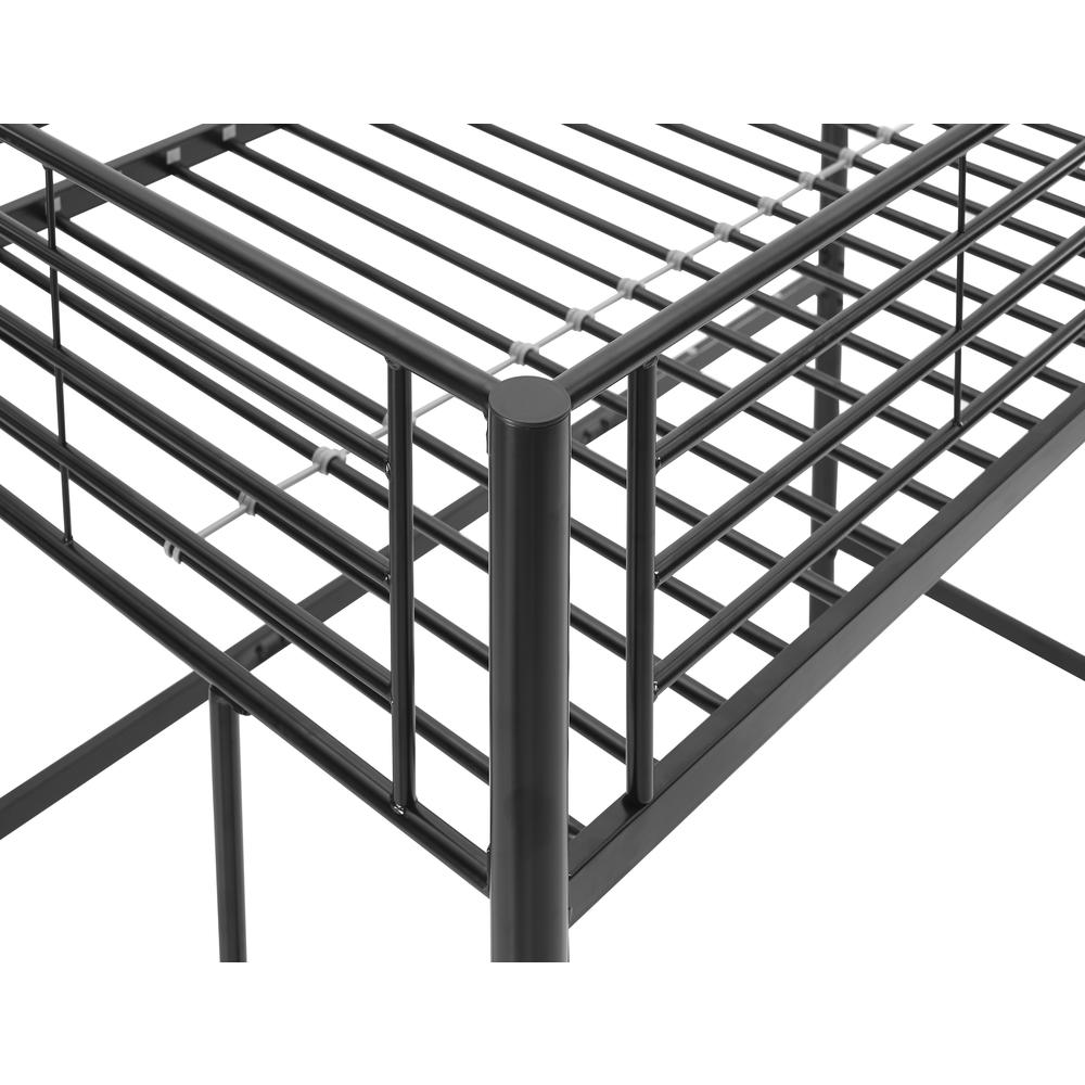 Twin Metal Loft Bed - Black. Picture 5