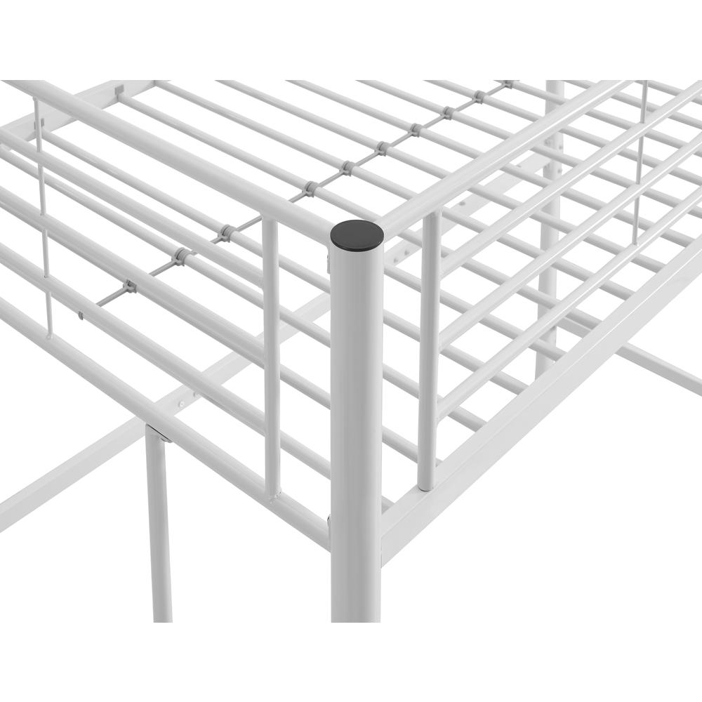 Twin Metal Loft Bed - White. Picture 5