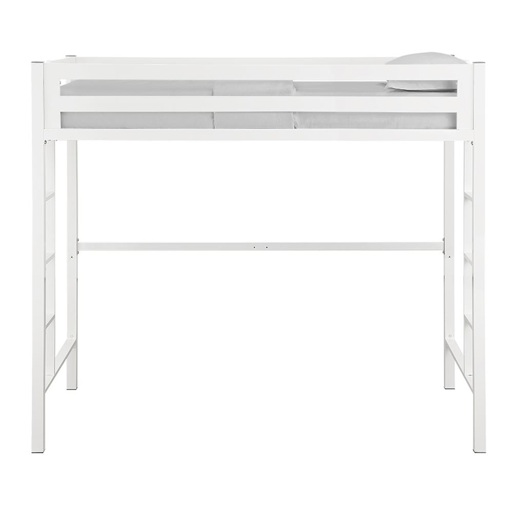 Bentley Twin Metal Loft Bed - White. Picture 3