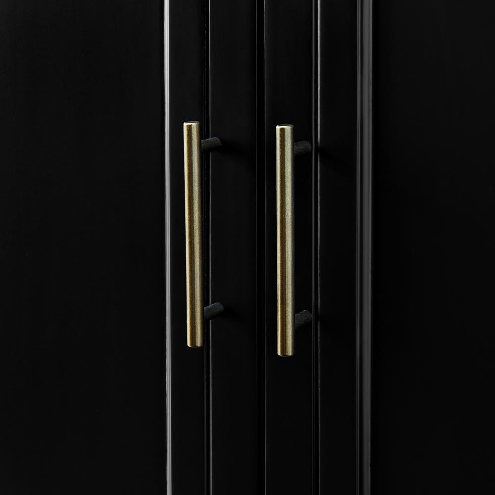 """62"""" 4-Door Tiered Modern Sideboard - Black. Picture 5"""