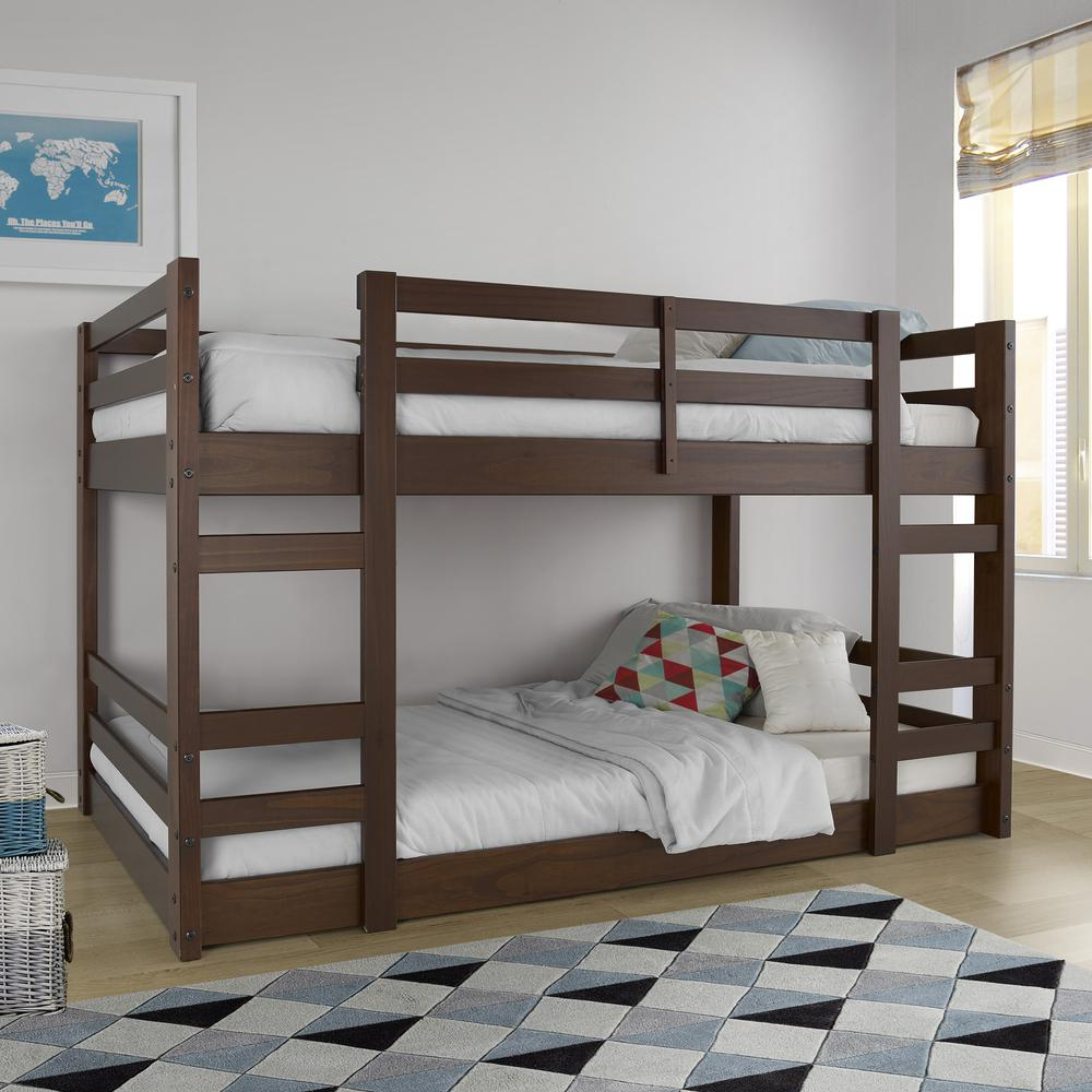 Twin/Twin Solid Wood Bunk Bed - Walnut. Picture 2