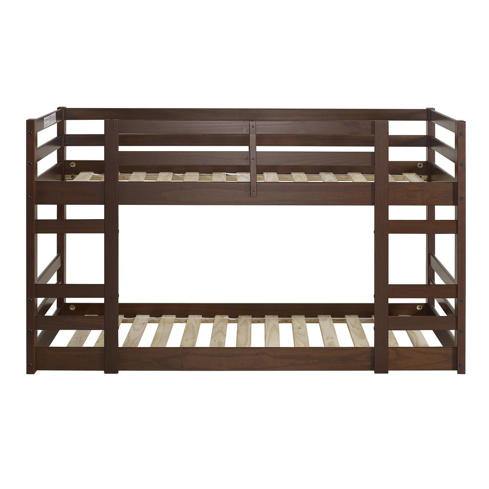 Twin/Twin Solid Wood Bunk Bed - Walnut. Picture 1