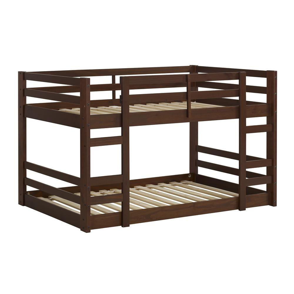 Twin/Twin Solid Wood Bunk Bed - Walnut. Picture 3
