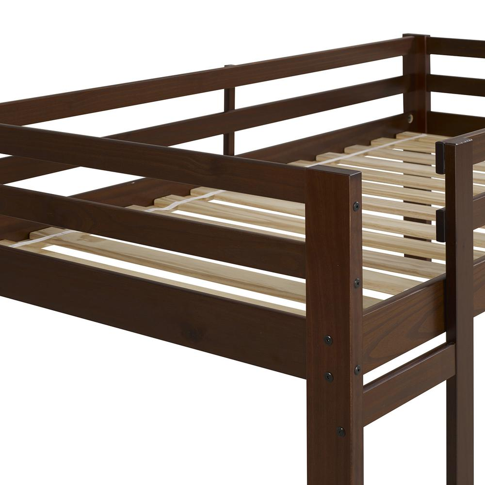 Twin/Twin Solid Wood Bunk Bed - Walnut. Picture 4