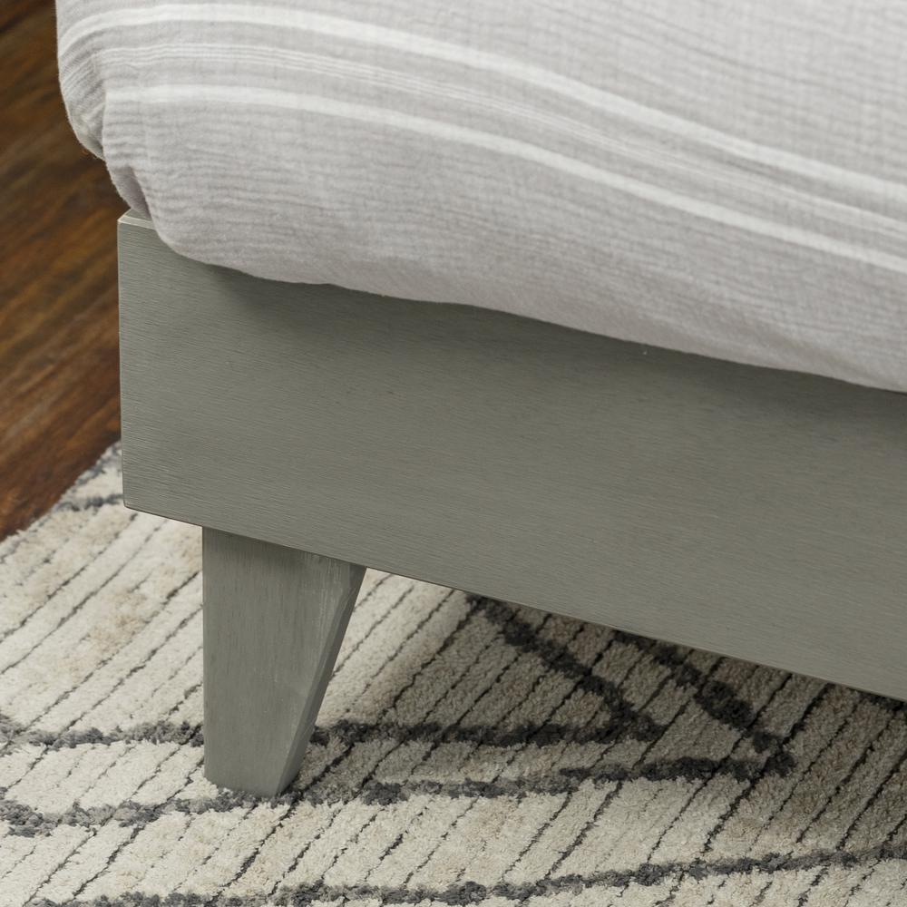 Solid Wood King Platform Bed - Grey Brush. Picture 4