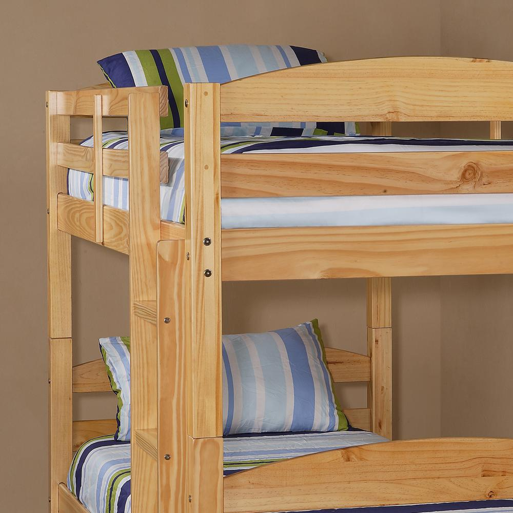 Twin Solid Wood Bunk Bed - Natural. Picture 3