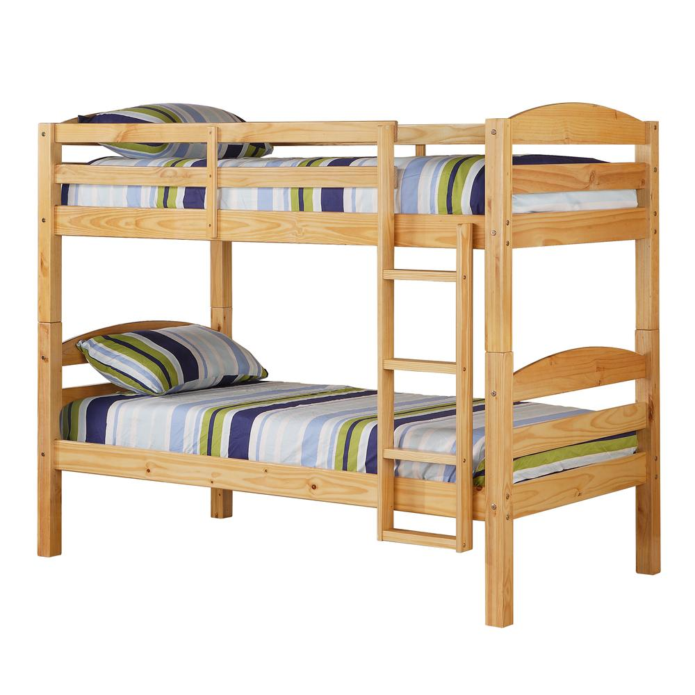Twin Solid Wood Bunk Bed - Natural. Picture 4