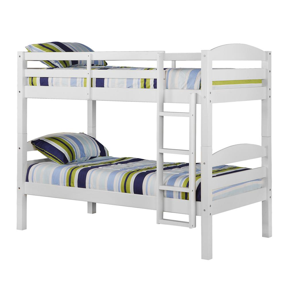 Twin Solid Wood Bunk Bed - White. Picture 4