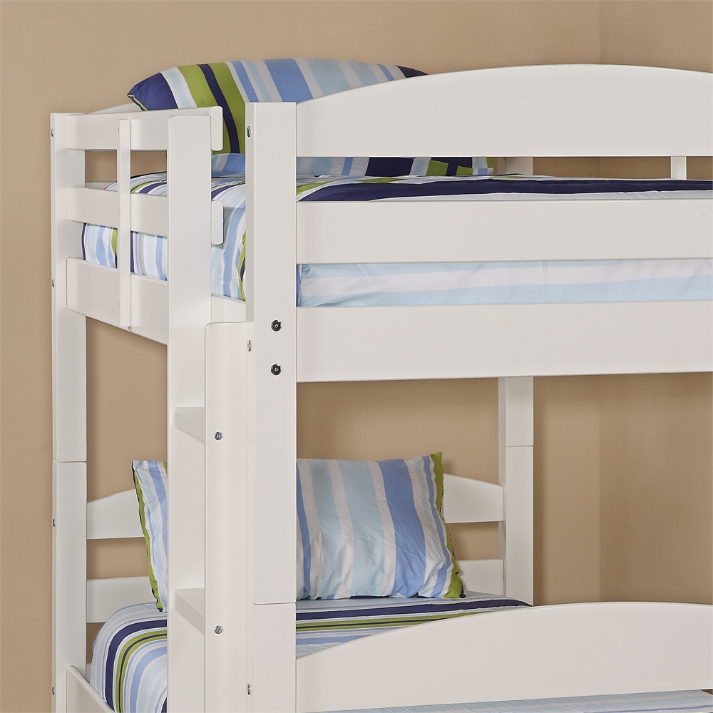 Twin Solid Wood Bunk Bed White