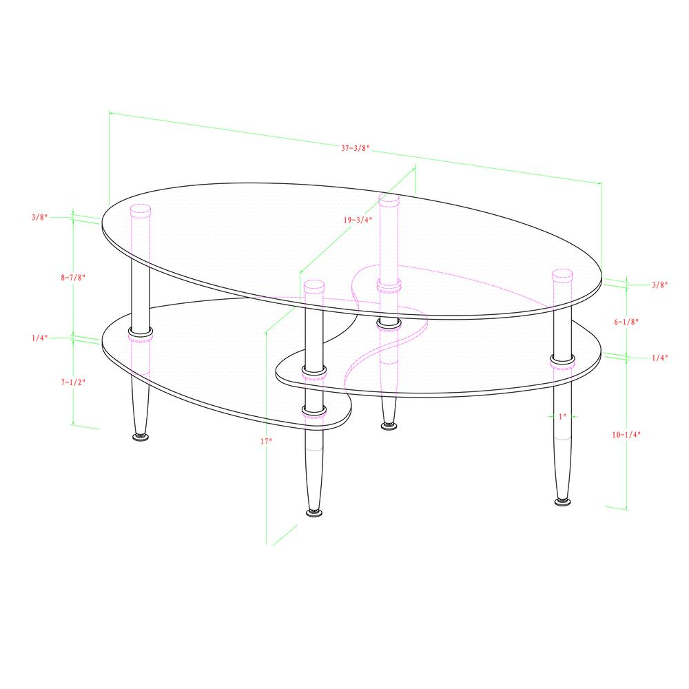 Glass Oval Coffee Table. Picture 3