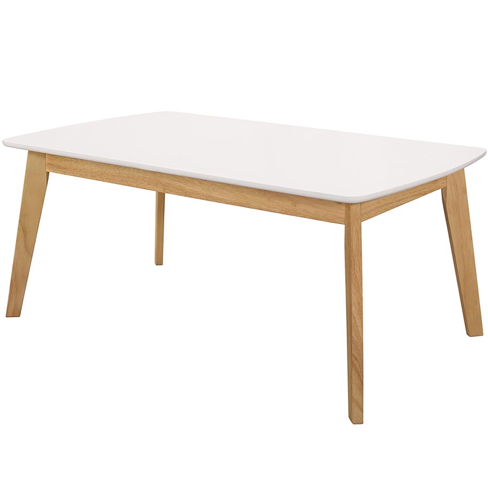 Retro Modern Coffee Table White Natural