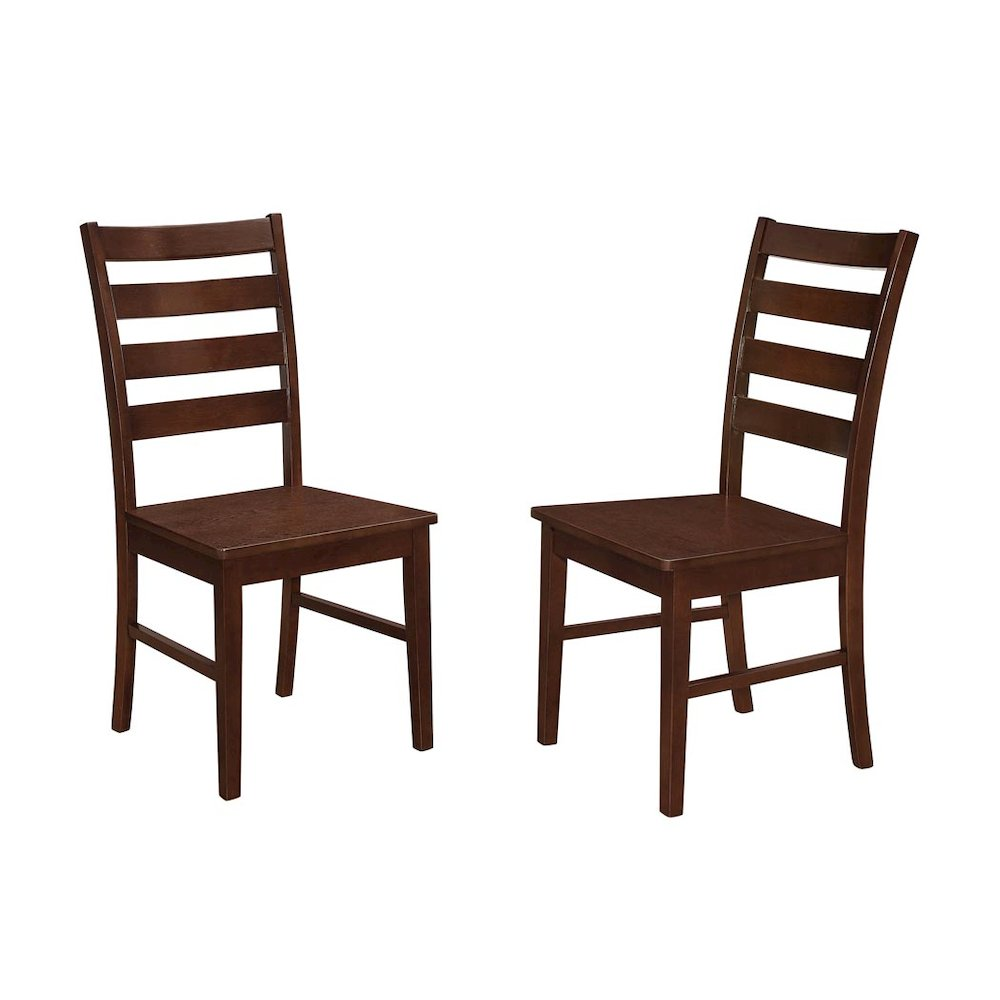 Wood Ladder Back Dining Chair, Set Of 2