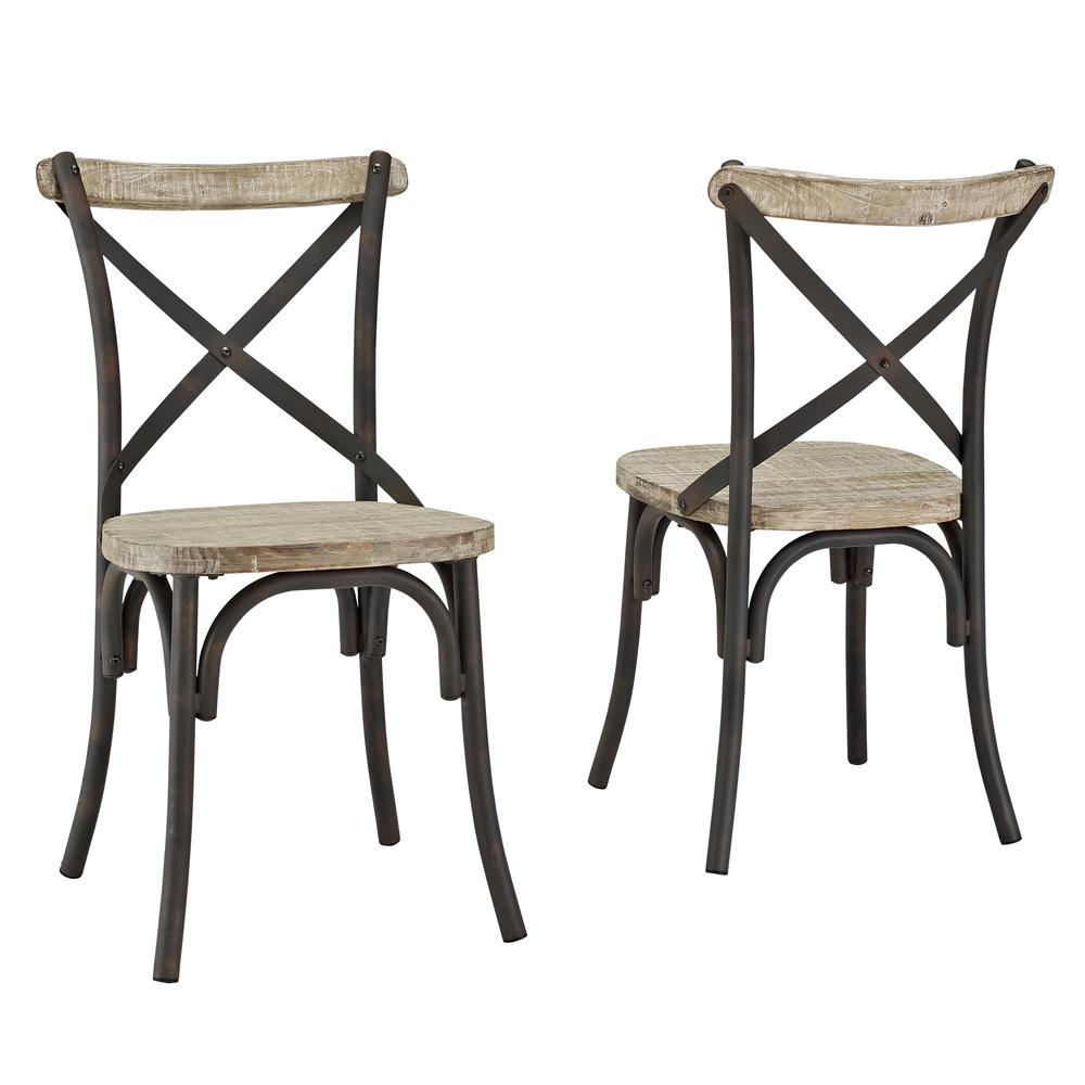 Reclaimed Dining Chairs, Set of 2. Picture 1