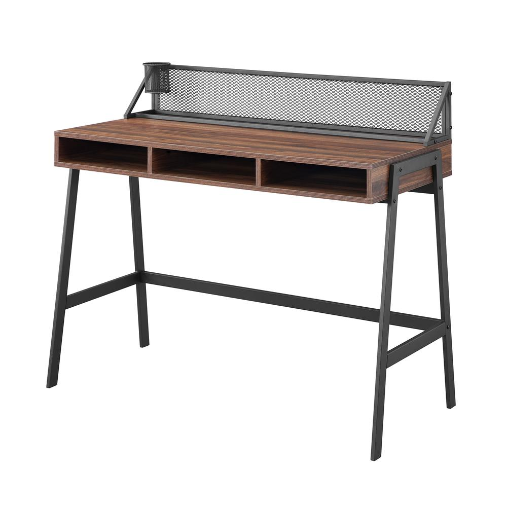 "42"" Mesh Back Writing Desk - Dark Walnut. Picture 5"