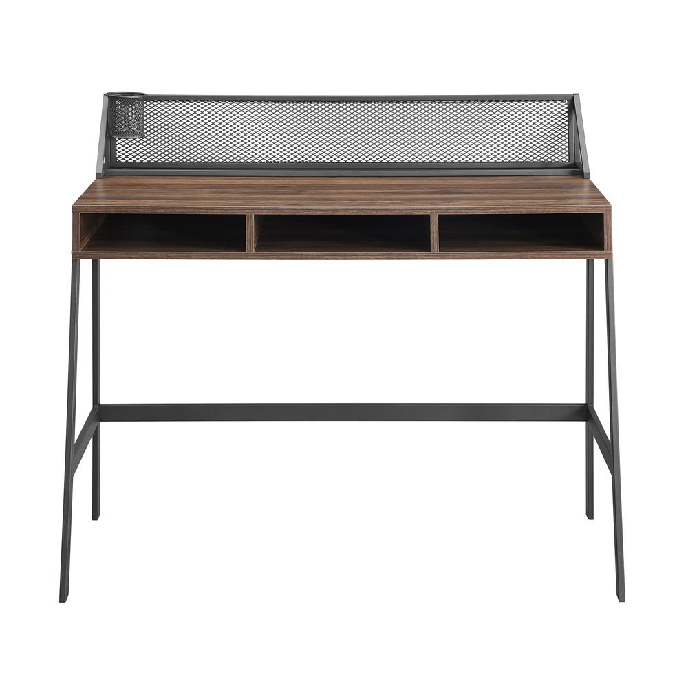 "42"" Mesh Back Writing Desk - Dark Walnut. Picture 6"