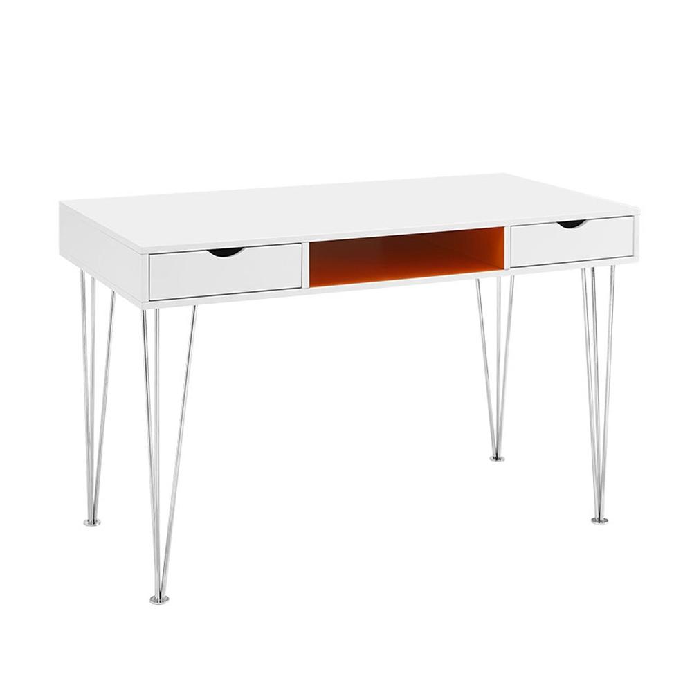 48 Quot Color Accent Computer Desk Orange