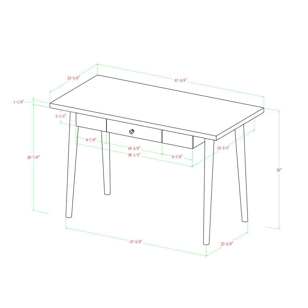 "48"" Mid-Century Wood Computer Desk. Picture 4"