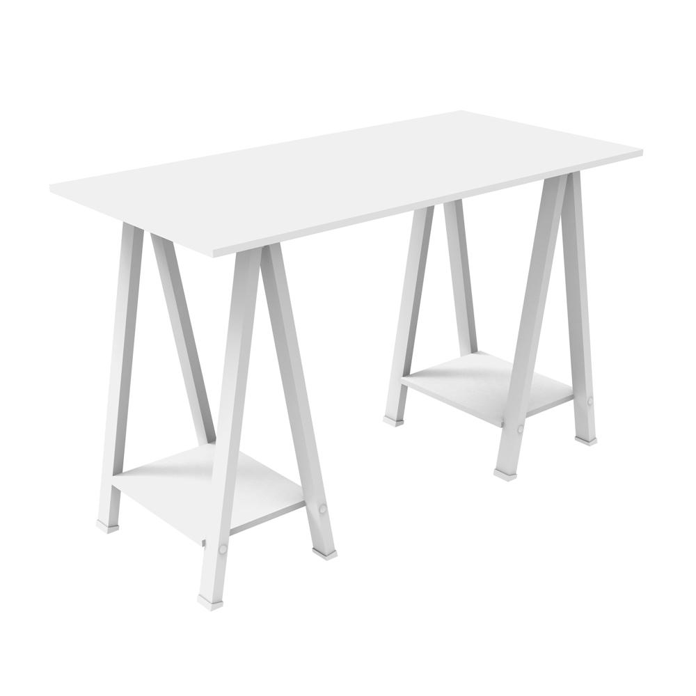 48 Quot Wood Sawhorse Computer Desk White