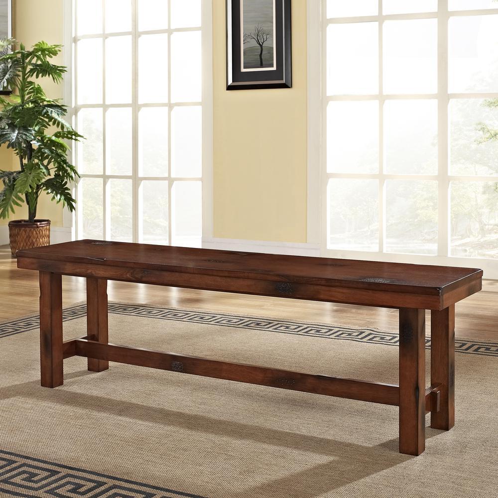 Dark Oak Wood Bench. Picture 3