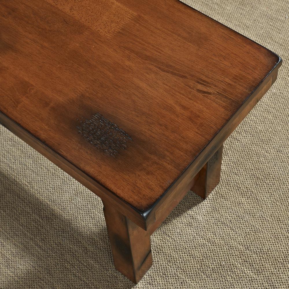 Dark Oak Wood Bench. Picture 2