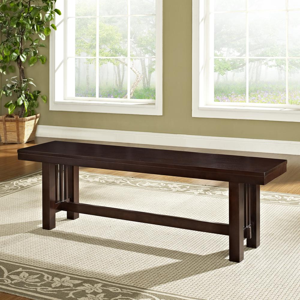 Cappuccino Wood Bench. Picture 2