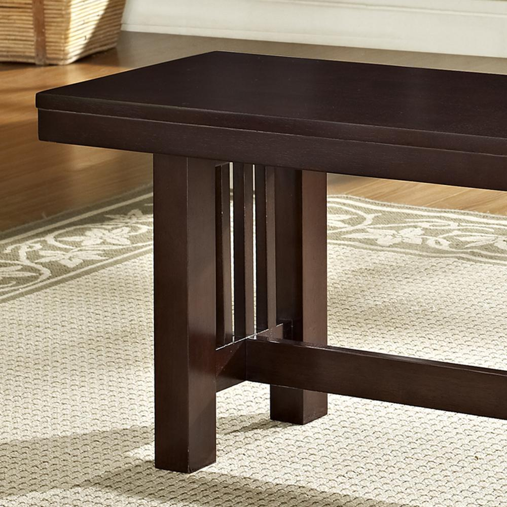 Cappuccino Wood Bench. Picture 1