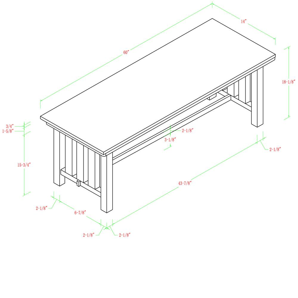 Cappuccino Wood Bench. Picture 4