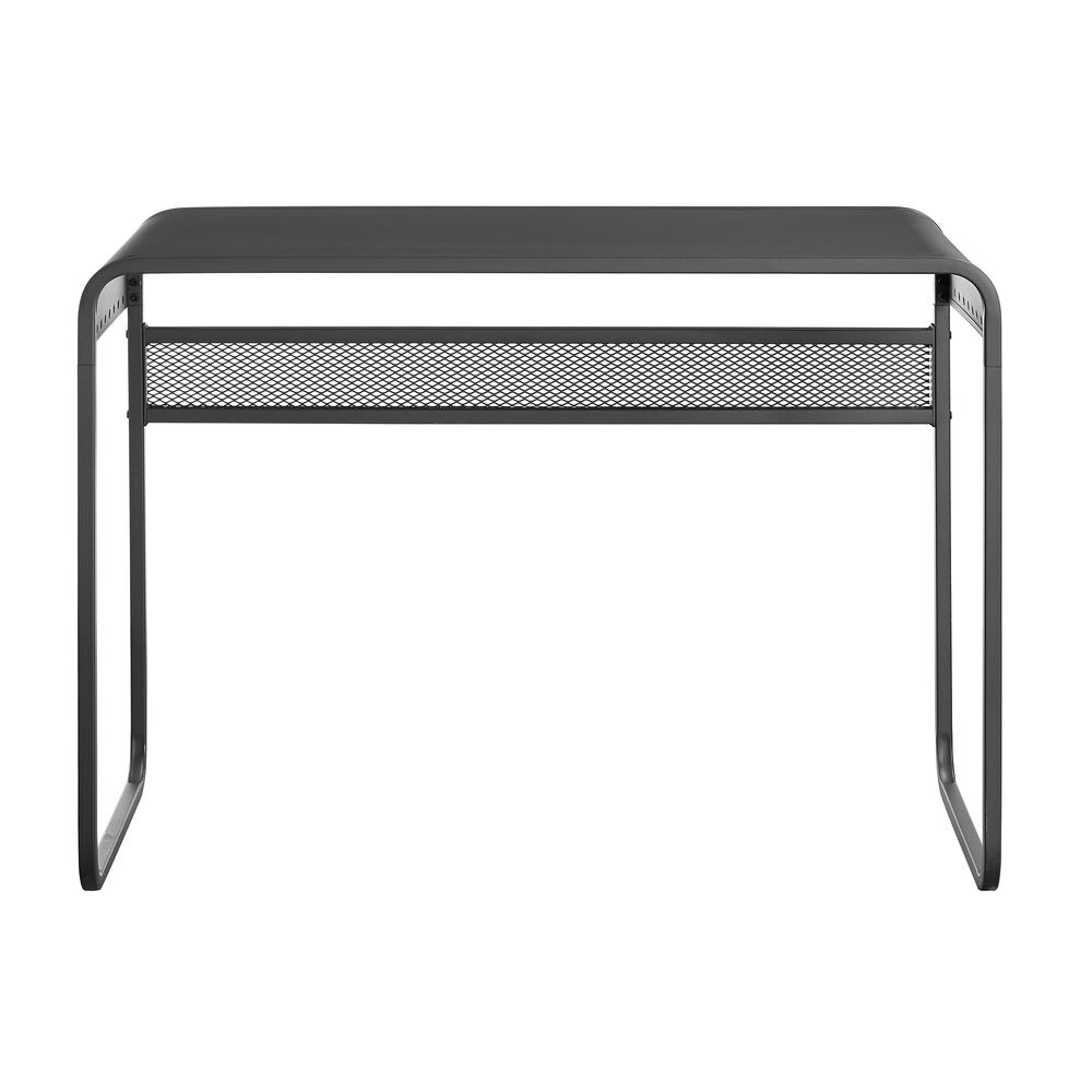 "42"" Urban Industrial Metal Desk with Curved Top - Gunmetal Grey. Picture 3"