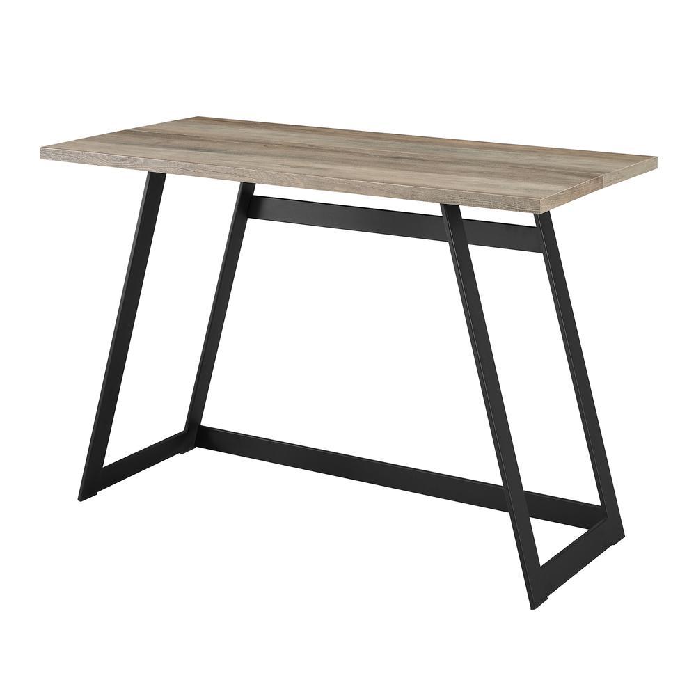 "42"" Urban Industrial Metal Wrap Writing Computer Desk - Grey Wash. Picture 4"