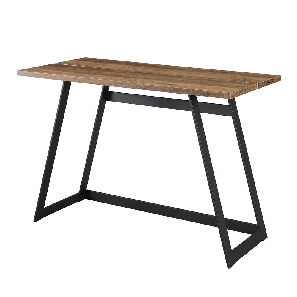 "42"" Urban Industrial Metal Wrap Writing Computer Desk - Rustic Oak. Picture 4"