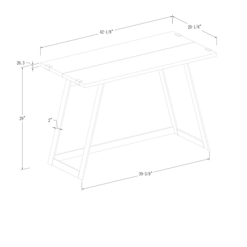 "42"" Urban Industrial Metal Wrap Writing Computer Desk - Rustic Oak. Picture 5"