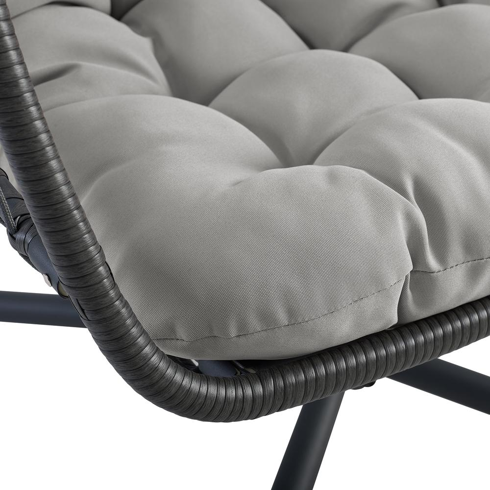 Swing Egg Chair with Stand - Grey/Grey. Picture 5
