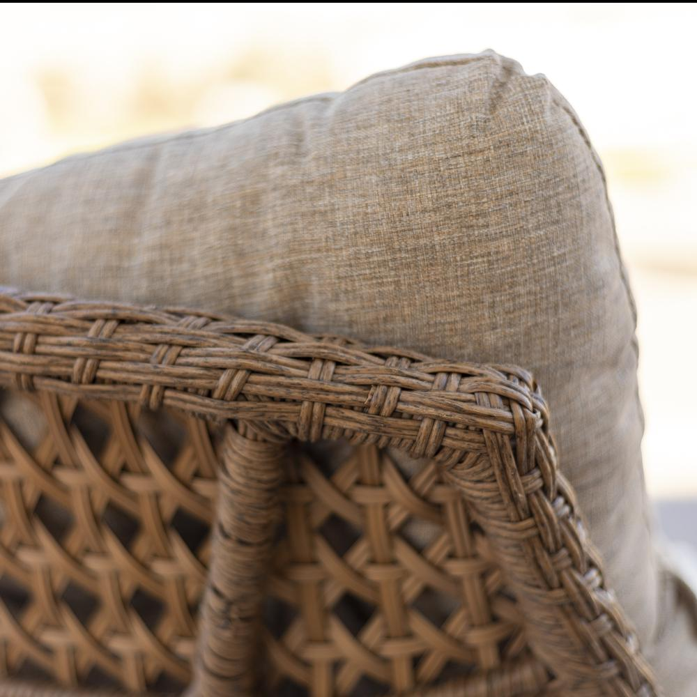 Outdoor Rattan Scoop Chairs Set Of 2 Natural