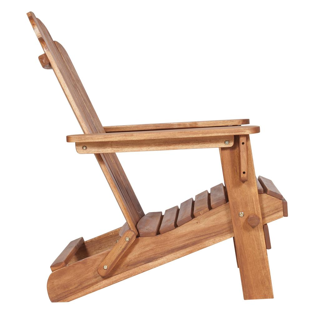 Acacia Adirondack Chair - Brown. Picture 3