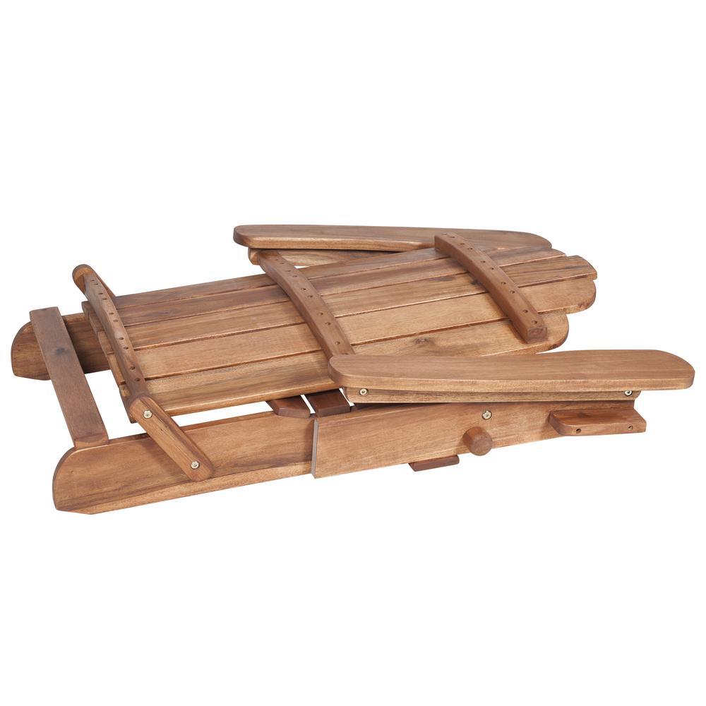Acacia Adirondack Chair - Brown. Picture 4