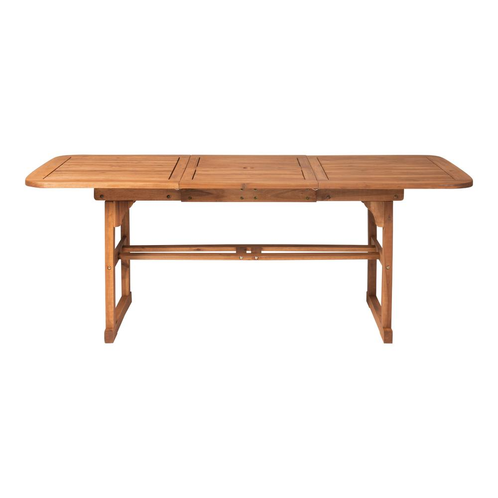 Acacia Wood Patio Butterfly Table - Brown. Picture 4