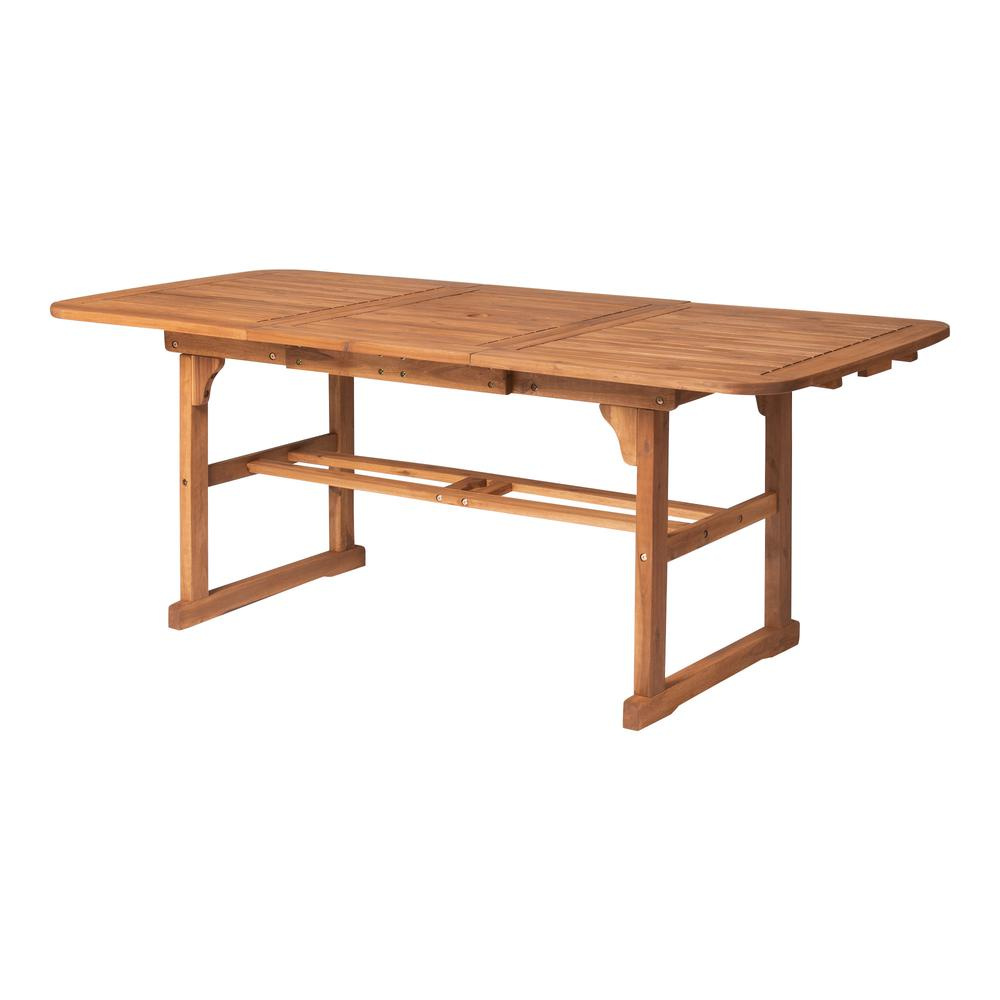 Acacia Wood Patio Butterfly Table - Brown. Picture 5