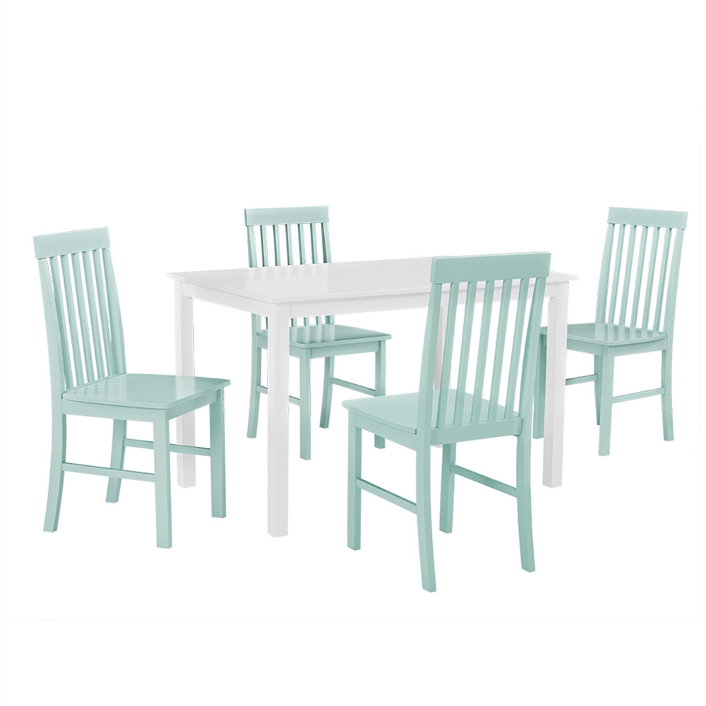 Greyson 5-Piece Dining Set - White/Sage. Picture 1