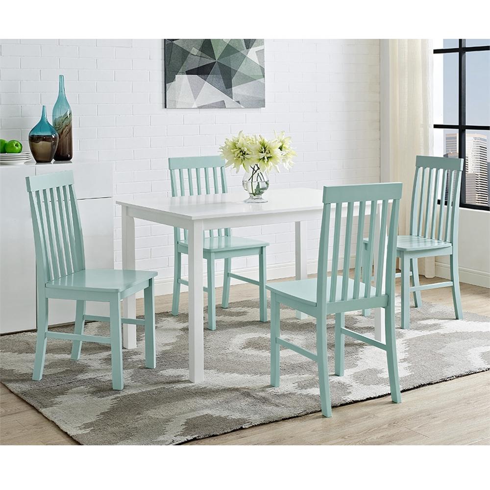 Greyson 5-Piece Dining Set - White/Sage. Picture 5