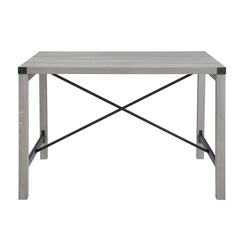 """48"""" Metal X Dining Table - Stone Grey. Picture 3"""
