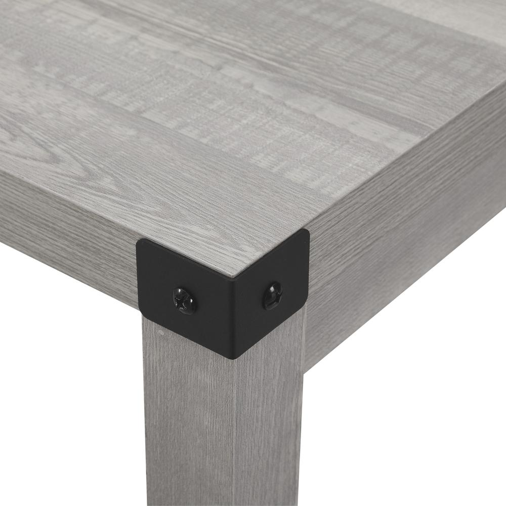 """48"""" Metal X Dining Table - Stone Grey. Picture 4"""