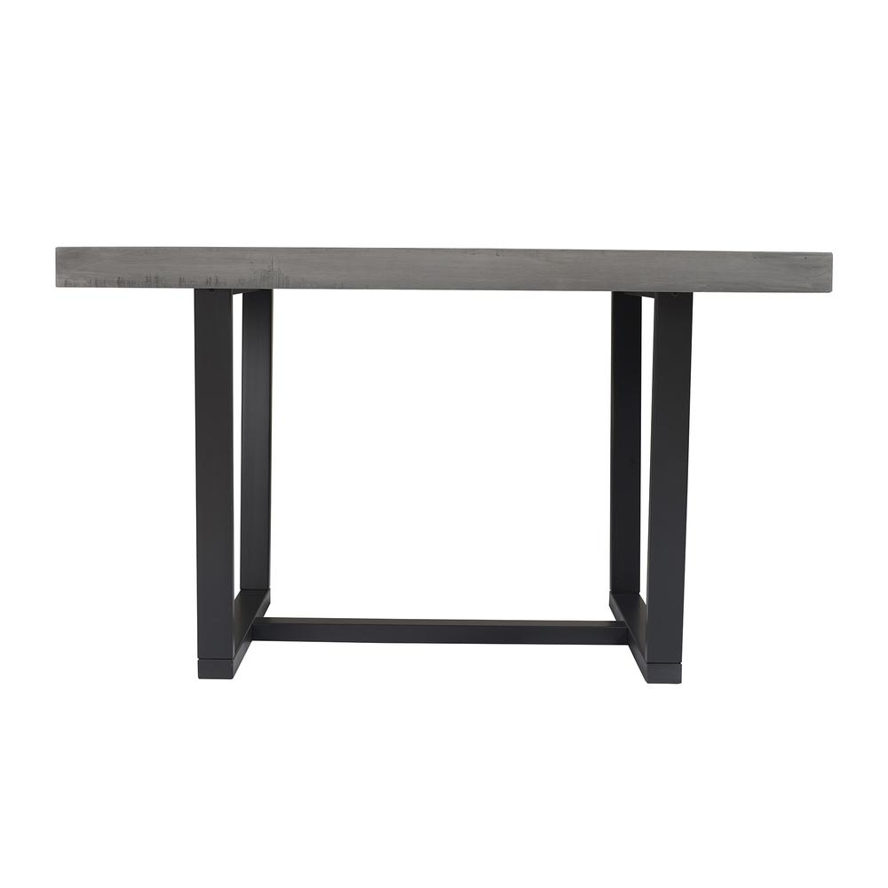 """52"""" Distressed Solid Wood Dining Table - Grey. Picture 2"""