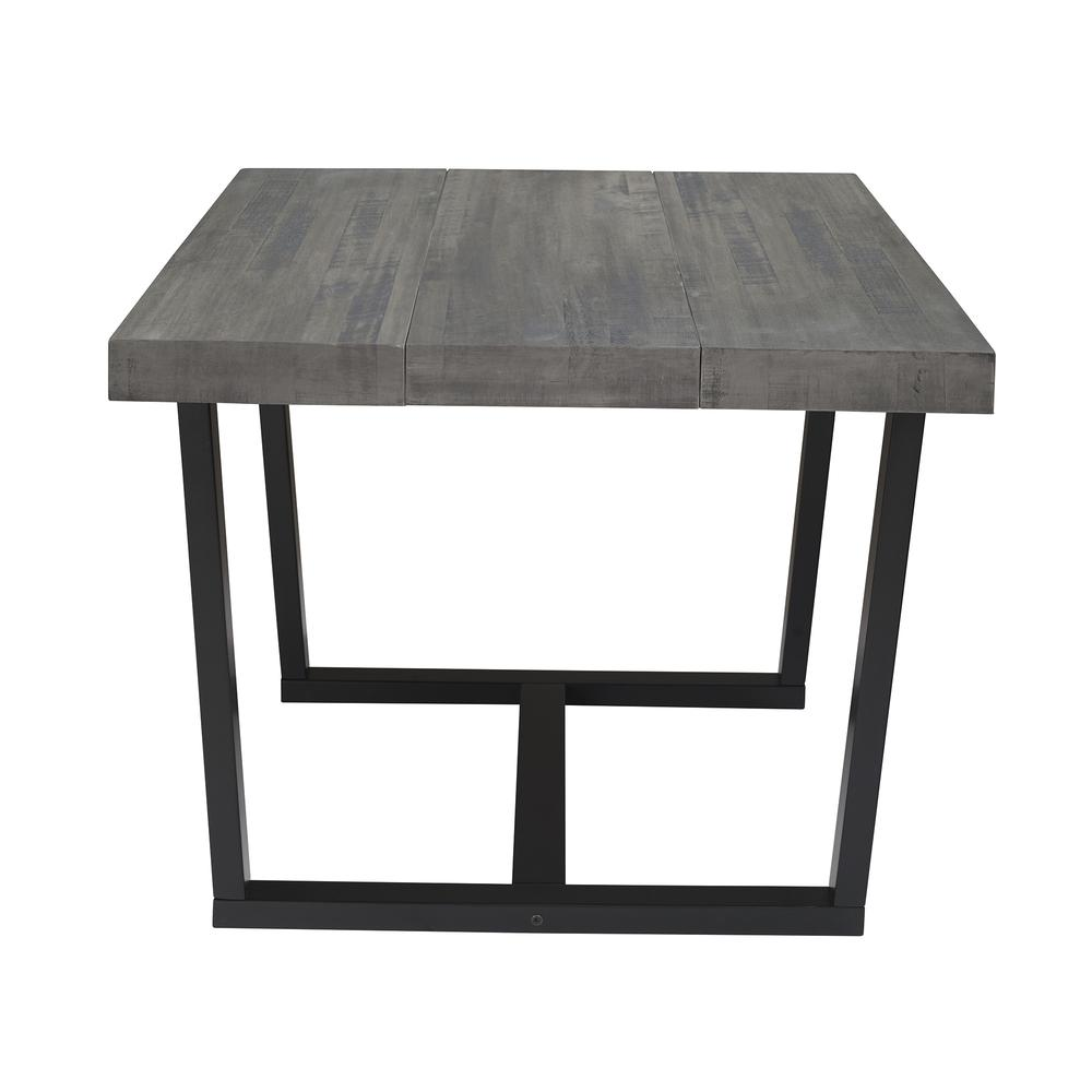 """52"""" Distressed Solid Wood Dining Table - Grey. Picture 3"""