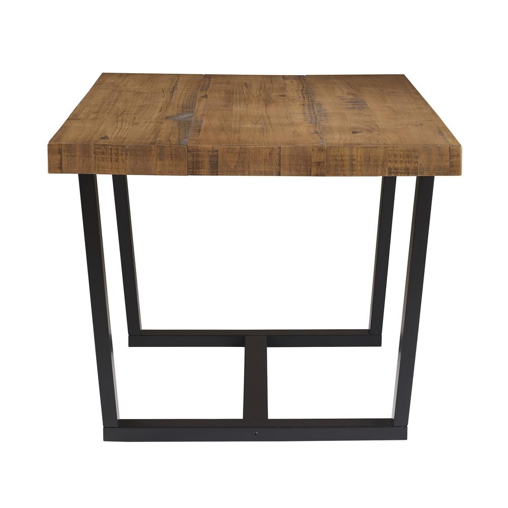 """52"""" Distressed Solid Wood Dining Table - Reclaimed Barnwood. Picture 3"""