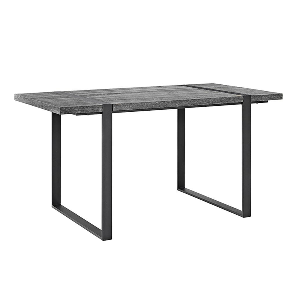 "60"" Urban Blend Wood Dining Table - Charcoal. Picture 1"